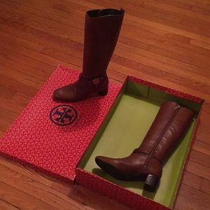 Tory Burch brown leather boots!